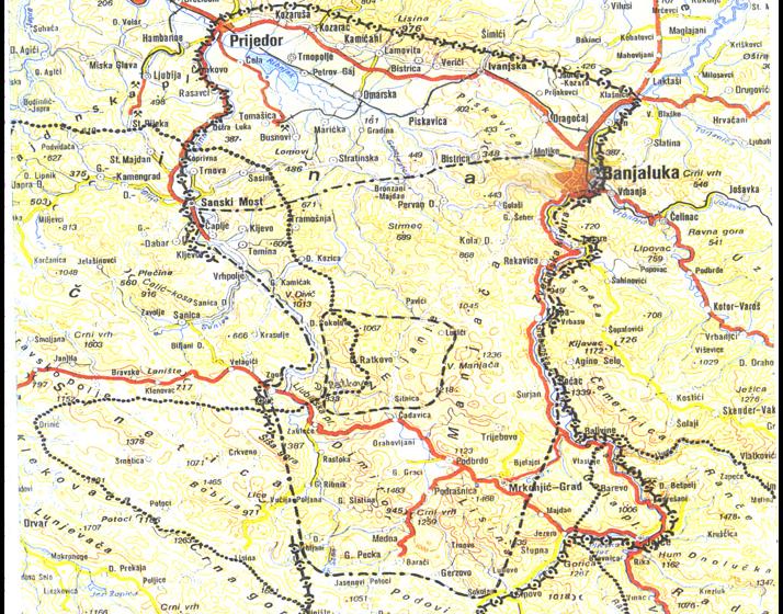Geographical Position of Zmijanje | 2007 | Irena Medar-Tanjga